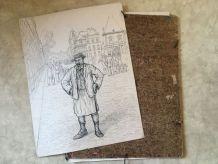 25 dessins originaux  à l'encre de Emile Deshays