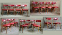 4 chaises vintage 60' scandinave style Chrobat & Sax