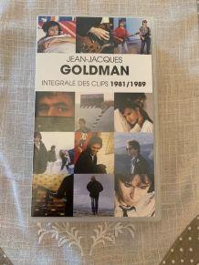 VHS Jean-Jacques Goldman L'Intégrale des Clips 1981