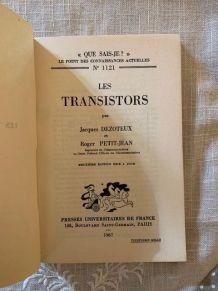 Que sais-je Les Transitors n° 1121  de 1967