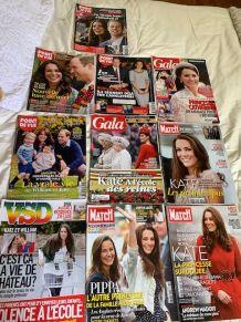 Lot de 10 magazines Kate Middleton Duchesse Cambridge