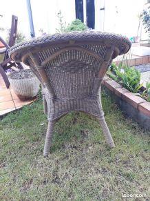 fauteuil design rotin en cocon
