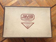 """Trousse cuir, nécessaire de toilette """"Janvier"""" années 60"""