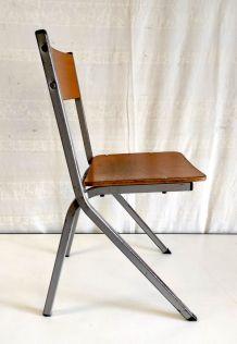 Chaise enfant pieds compas – années 60
