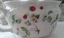 Pot vase faïence anglaise