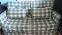Canapé  2 places  en mousse convertible