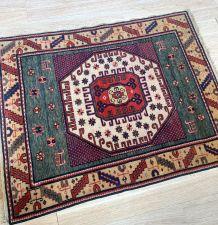 Tapis vintage Caucasien Kazak Karachov fait main, 1N13