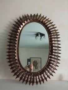 Miroir soleil en métal