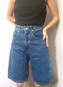 Bermuda en jean vintage Taille haute