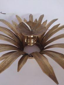 Plafonnier doré vintage