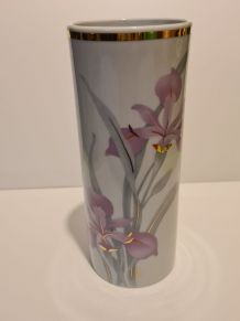 Vase porcelaine de l'Abbaye décor fleurs