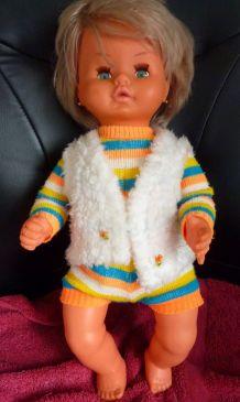 Authentique poupée/poupon Gégé parlante vintage 1974
