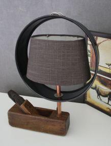 """LAMPE À POSER RÉCUP' """"LE RABOT"""""""