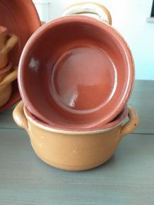 Service soupe ou salades  terre cuite