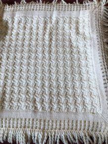 2 taies de coussins en crochet