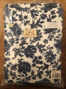 Parure de lit petites fleurs bleues