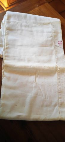drap coton blanc ancien 2.10 x 2.80 m drap ancien en coton,