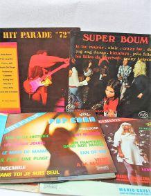 Lot de 13 33 tours HIT PARADE CHANTE plus divers  années 70.