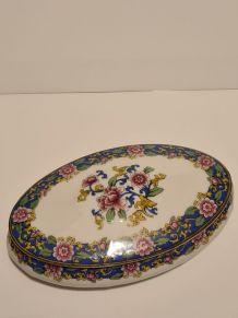 Bonbonnière Porcelaine de Limoges décor floral