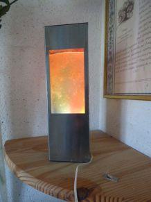 Année 60/70 Lampe à poser ambiance Paillette