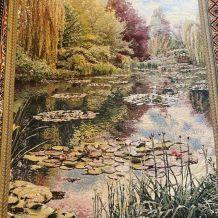 Tapisserie d'aubusson 1970 étang de Giverny claude Monet