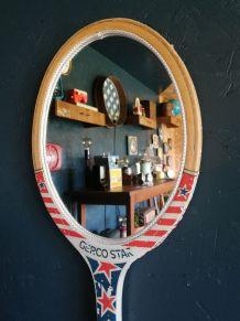 """Miroir mural raquette miroir ovale tennis """"Gerco Star"""""""