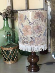 Lampe fleurs séchées vintage