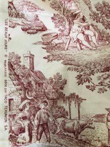 """Toile de Jouy - motif """"les beaux jours"""", tissu, couture"""