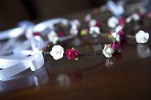Lot de 4 couronnes de fleurs demoiselles d'honneur