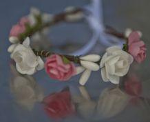 Couronne et bracelet assorti demoiselle d'honneur