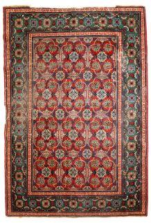 Tapis ancien Turkestan Oriental Khotan fait main, 1C724