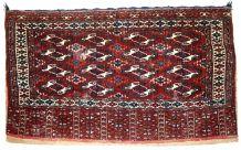 Tapis ancien Turkmène Yomud fait main, 1C725