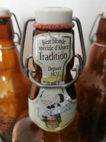 Bouteille de bière d'Alsace '' FISHER ''