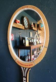 """Miroir mural raquette miroir tennis """"Marco Pierre Darmon"""""""