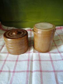 Next Set de 3 Noir Faience de stockage Pots Conteneurs en bois couvercle RRP £ 28