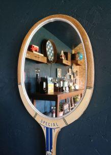 """Miroir mural raquette miroir ovale tennis """"Victor Clément"""""""