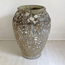 Jardinière jarre 70's en ciment