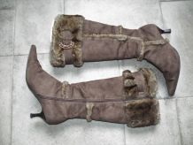 Bottes hautes à fourrure - Vintage
