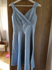 Robe bleue à pois - Vintage