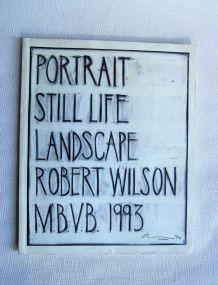 Portrait still life landscape Robert Wilson M.B.V.B 1993.