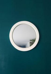 """Miroir blanc vintage """"passe-partout"""""""
