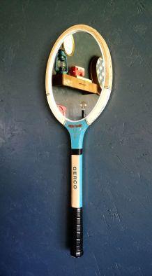 """Miroir mural raquette miroir ovale tennis """"Wimbledon"""""""