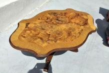Belle table basse en bois massif pieds tournés, différentes