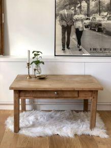 Table basse ancienne de ferme