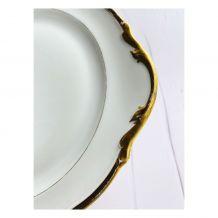 Magnifique plat de service en porcelaine Limoges A.C.