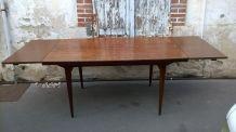 Table danoise teck et palissandre