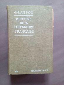 Histoire de la littérature française, Gustave Lanson
