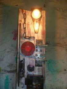 LAMPE DE TABLE - VINTAGE - UPCYCLING