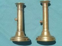 chandeliers a poussoir en laiton (lot)