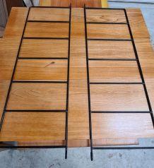 etagere   bois 1950  style tomado ,  string, 65x70x22 superb